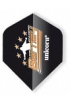 Unicorn flight big wing Barney logo zwart